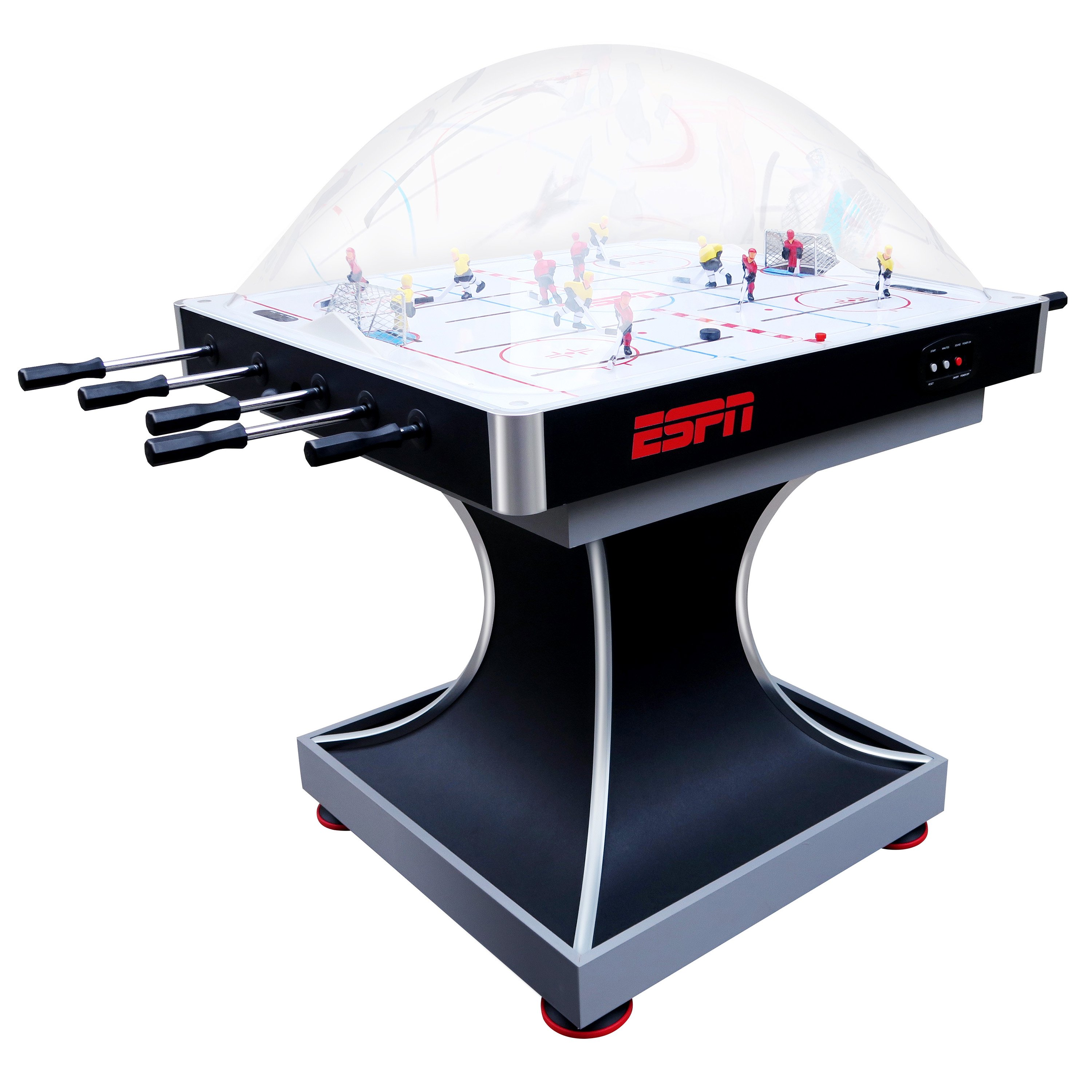 ESPN 2-Player Premium Dome Bubble Hockey Table with LED Scoring System by MD Sports