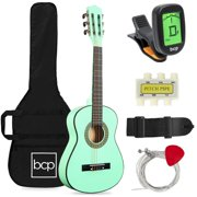 Best Choice Products 30in Kids Acoustic Guitar Beginner Starter Kit with Tuner, Strap, Case, Strings - SoCal Green