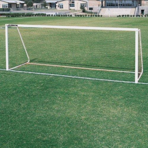 ALUMAGOAL Square Aluminum Soccer Goals - Pair - 24' x 8'