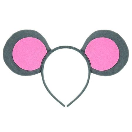Everyday's Like Halloween (SeasonsTrading Pink & Gray Mouse-A-Like Ears Headband - Cute Grey Three Blind Mice Mouse Costume, Halloween, Cosplay, Birthday, Party)