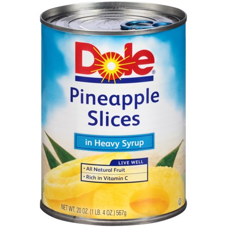 Dole Sliced Pineapple in Syrup 20 oz, Pack of (Pineapple Syrup)
