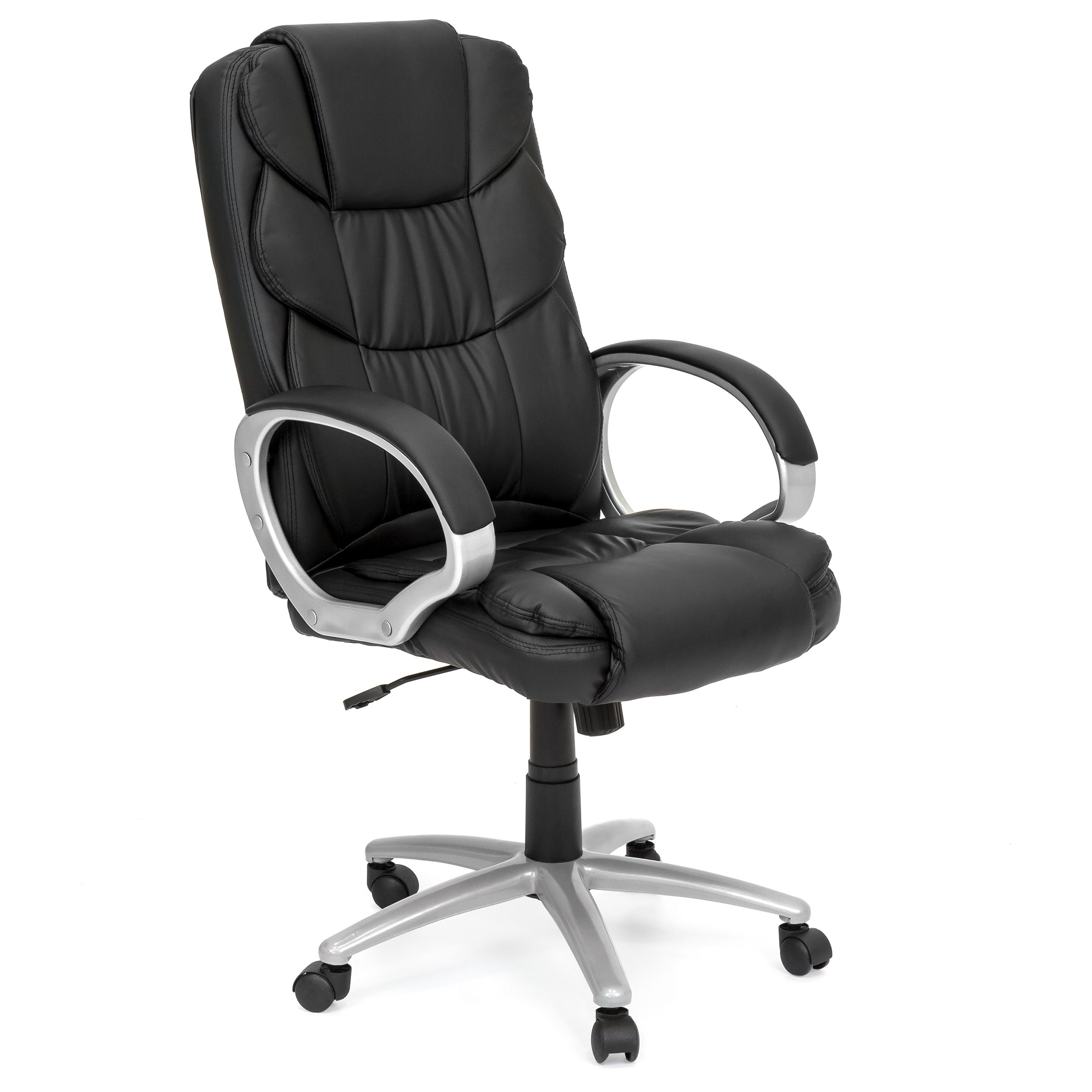 best choice products ergonomic pu leather high back office chair black