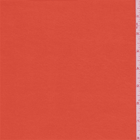 Clementine Orange Shimmer Jersey Knit, Fabric By the Yard