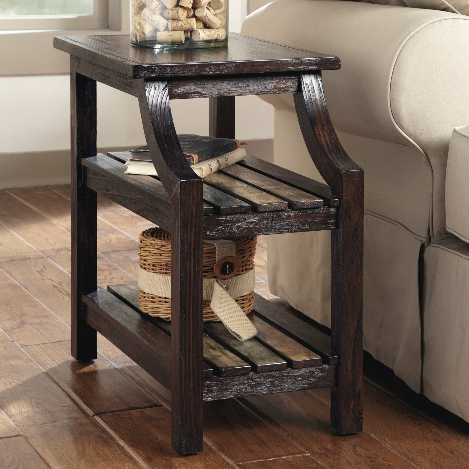 Signature Design By Ashley Mestler Brown Chair Side End Table