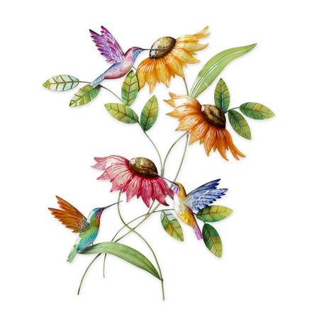 Hummingbird and Sunflower Metal Wall Art - Walmart.com
