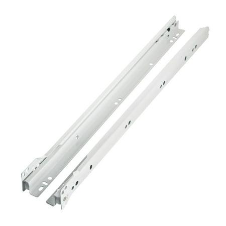 Blum Rok Hardware  14-inch (13.75-inch) 75 lb Capacity 0.75 Extension Euro Epoxy Cabinet Drawer Slide Model 230M White