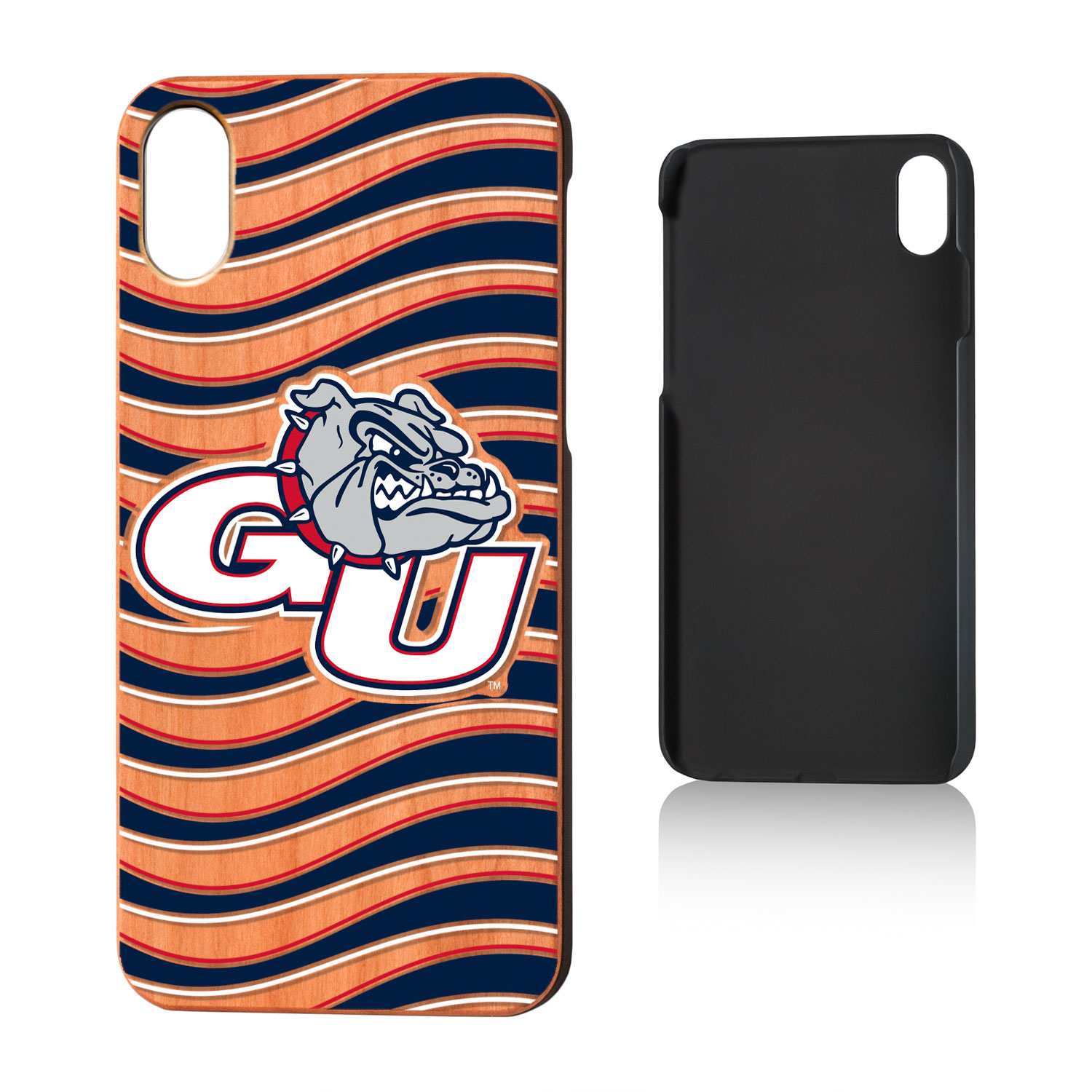 GU Gonzaga Bulldogs Wave Cherry Case for iPhone X