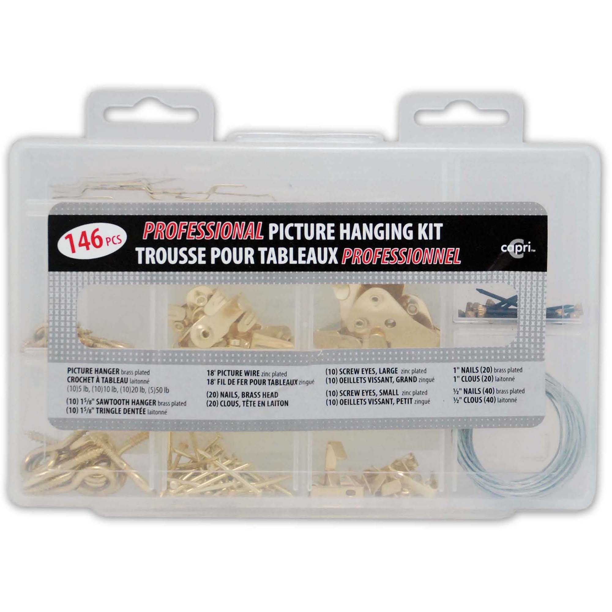 Professional Picture Frame Hanging 146-Piece Kit
