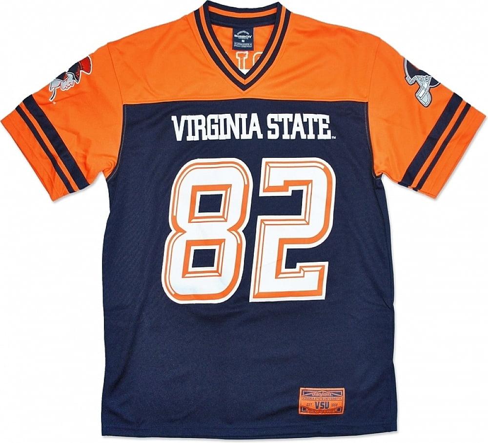 Virginia State Trojans S9 Mens Football Jersey [Navy Blue - M]