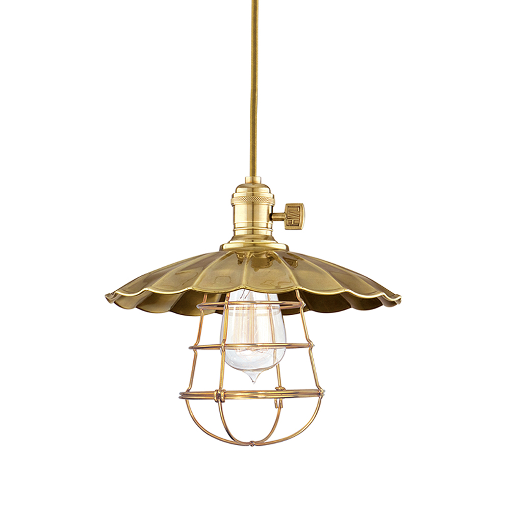 Hudson Valley 8001-AGB-MS3-WG 1 LIGHT PENDANT