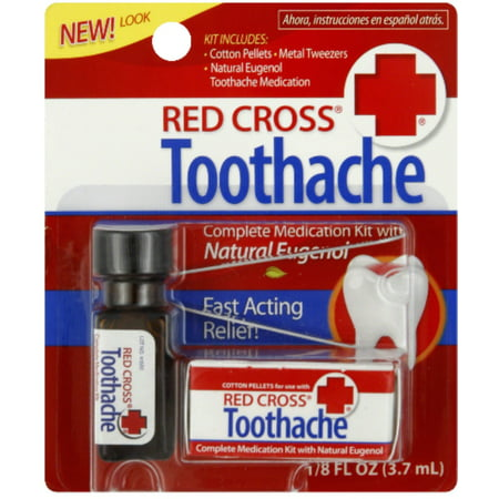 4 Pack - Red Cross Toothache Complete Medication Kit 0.12