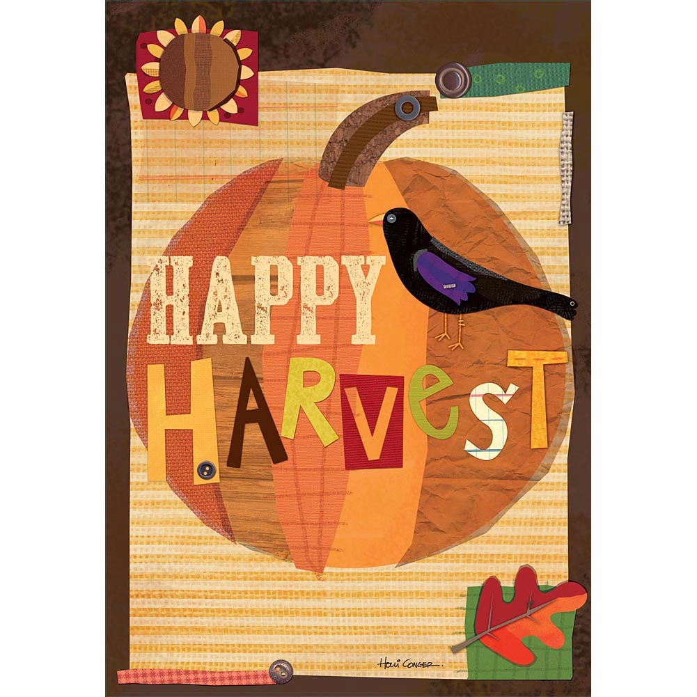 "Well Street by Lang ""Happy Harvest"" Large Flag, 28"" x 40"""