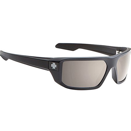 Spy Men's Polarized Mccoy 673012038832 Black Rectangle Sunglasses