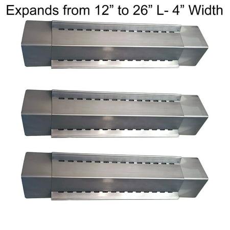 Set of 3 heat plates for Uniflame Bbq Grill Models GBC831W, GBC981W