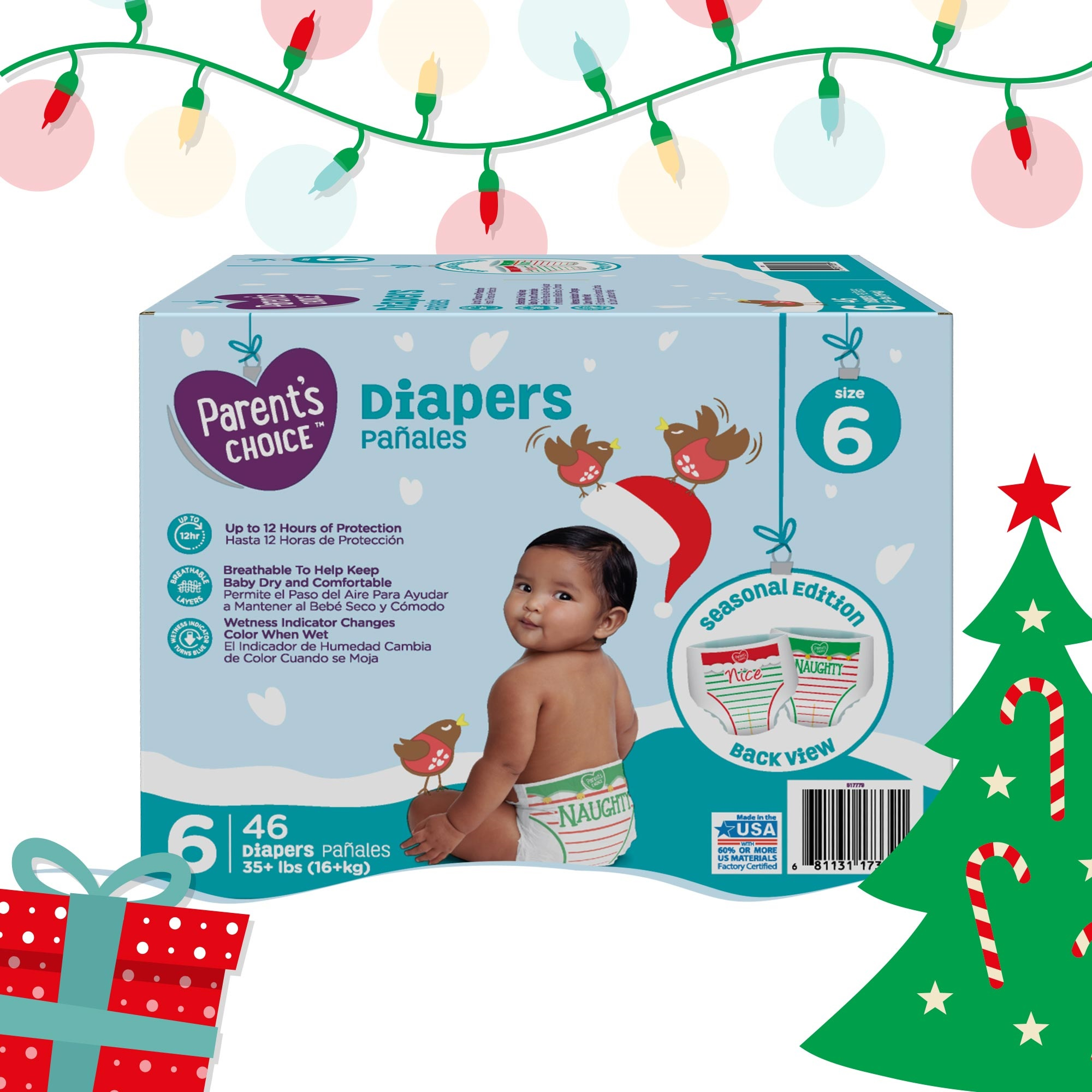 Parent\'s Choice Baby Diapers Holiday Limited Edition (Choose Size ...