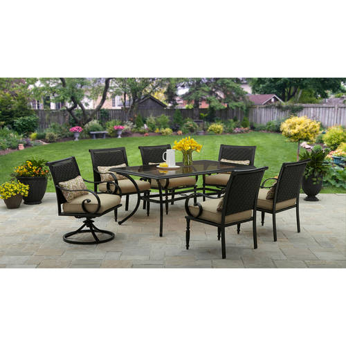 Better Homes and Gardens Englewood Heights II 7-Piece Patio Dining Set, Seats 6