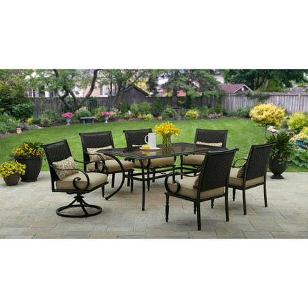 Better Homes and Gardens Englewood Heights II 7 Piece Patio Dining Set   Seats 6. Better Homes and Gardens Englewood Heights II 7 Piece Patio Dining