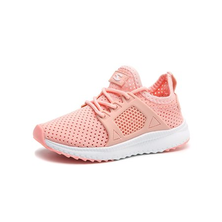 Boys Girls Running Shoes Athletic Comfortable Fashion Lightweight Mesh Kids Slip on Cushion Sport Sneakers (Boys Nike Free Running Shoes)