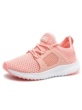Boys Girls Running Shoes Athletic Comfortable Fashion Lightweight Mesh Kids Slip on Cushion Sport Sneakers