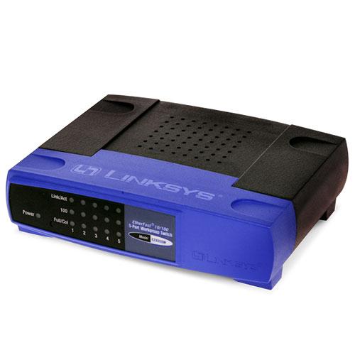 Linksys 5-port 10/100 Autosensing Desktop Switch (New Open Box)