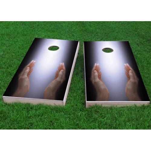 Custom Cornhole Boards Worshiping the Divine Cornhole Game (Set of 2) by Custom Cornhole Boards