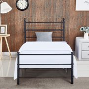 Vecelo Metal Steel Slat Platform Bed Frame Easy Embly With Under Storage