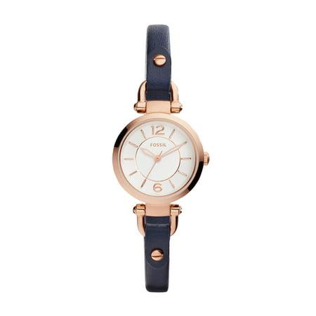 23 Ladies Mini Watch (Fossil Women's Georgia Mini Watch Quartz Mineral Crystal ES4026)