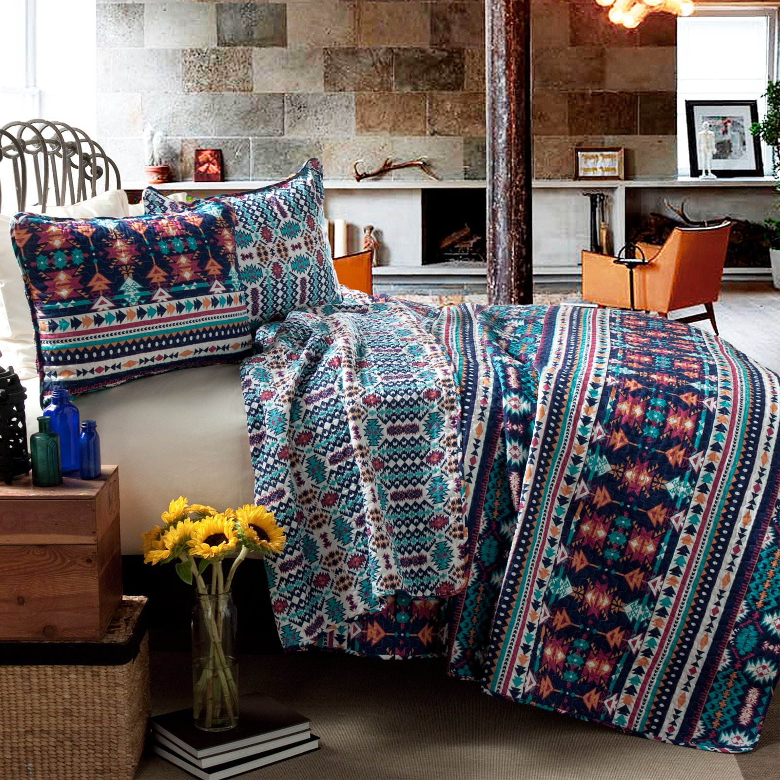 Navajo 3-Piece Quilt Set by Lush Decor by Lush Decor