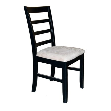 Wooden Imports PFL07-CC-BL&CH 2 Parfait Chair with Cushion Seat - Black and Cherry ()