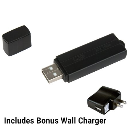 Voice Activated Recorder USB Flash Drive Voice Activated Spy Audio Recording Device with Wall Charger by