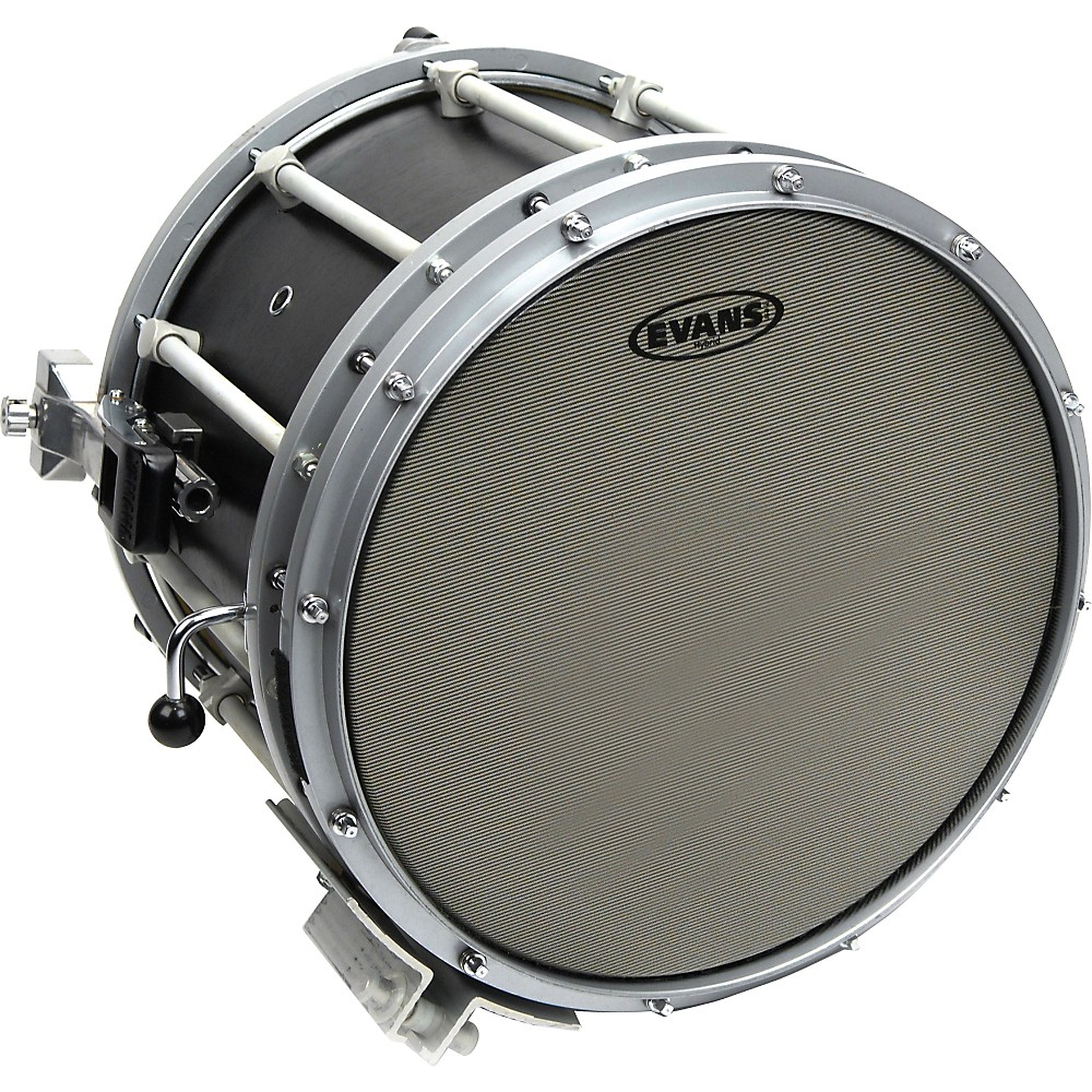 Evans Hybrid Marching Snare Drum Batter Head Gray 14in by Evans