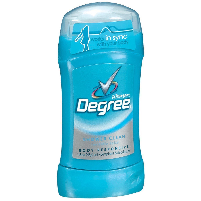 Degree Women Body Responsive Solid Antiperspirant & Deodorant, Shower Clean, 1.6 Oz