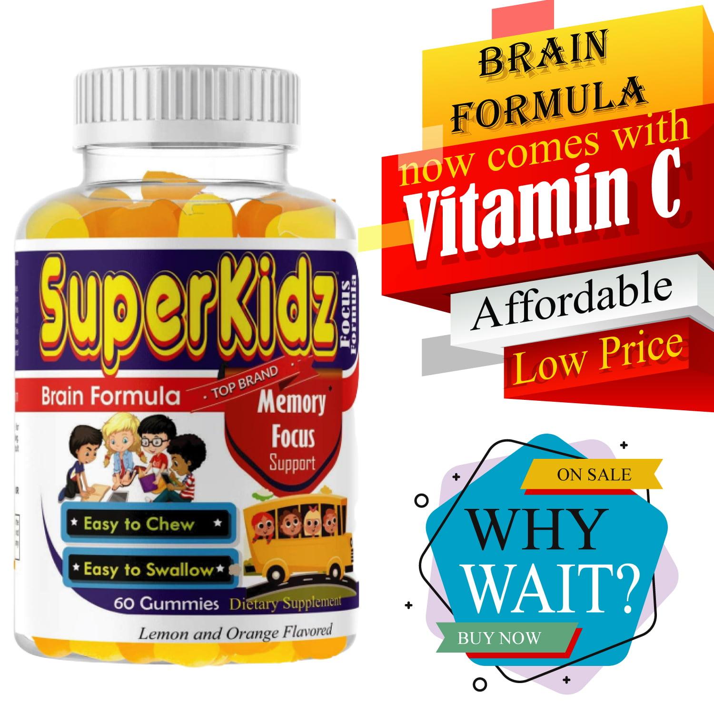SuperKidz- Brain Focus Formula, Memory Attention Focus Supplement for Kids,  Brain Booster with Omega 3 6 9, DHA Supplements, Memory Supplement for Kids  Brain Vitamins - Walmart.com - Walmart.com