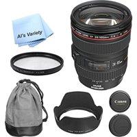 Canon EF 24-105mm f/4L IS USM Premium Lens Bundle (White Box)- International Model