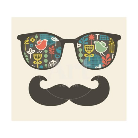 Retro Sunglasses With Reflection For Hipster Print Wall Art By (Sunglasses Wall Art)