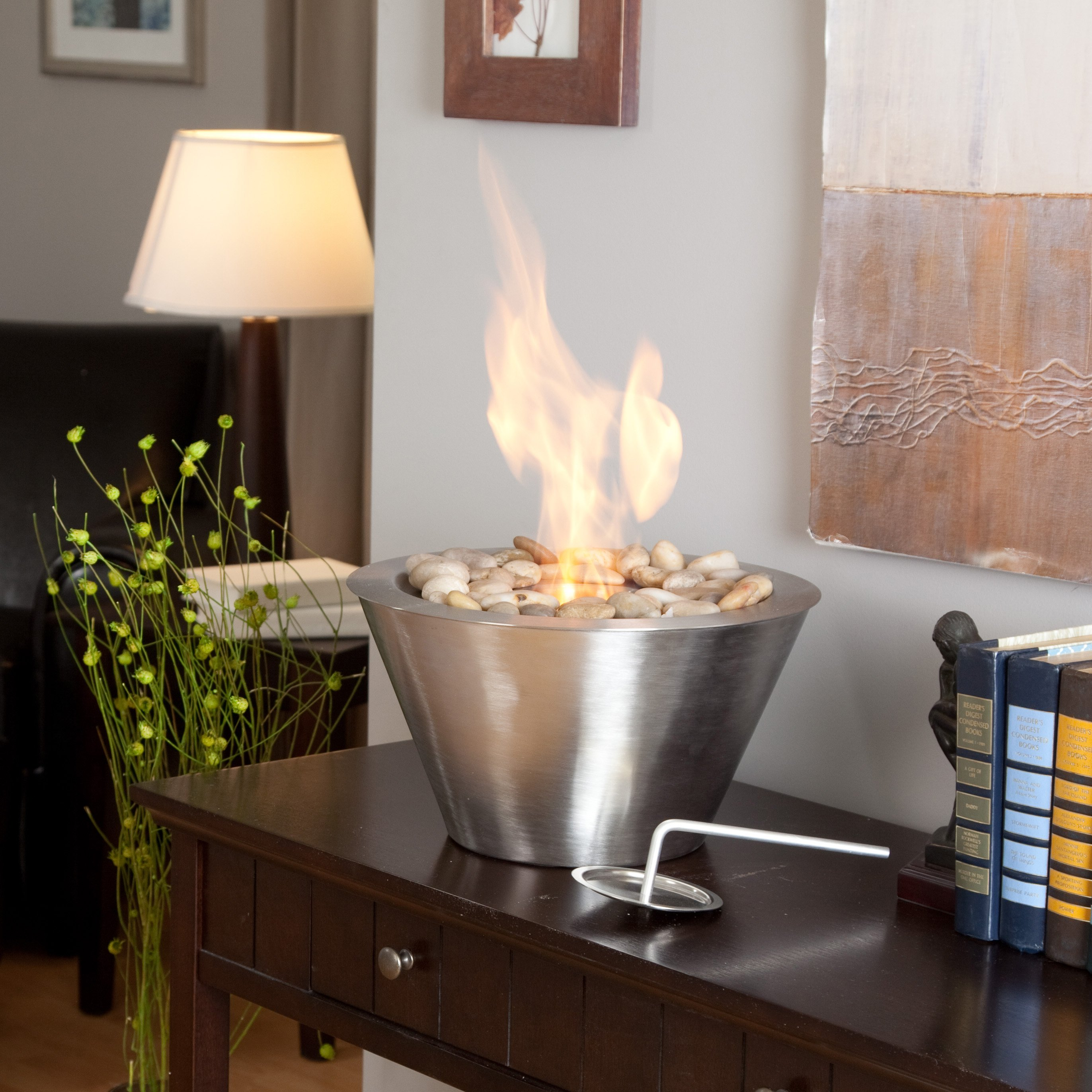 Anywhere Fireplace Oasis Table Top Indoor / Outdoor Fireplace - Walmart.com