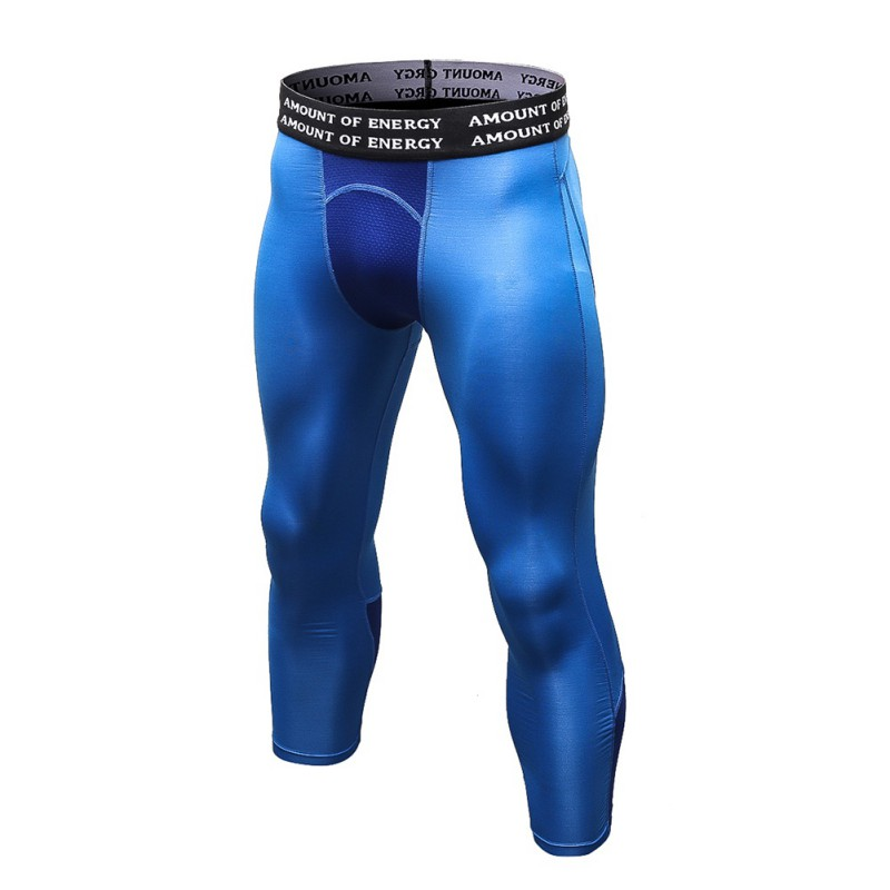 Mens Compression Running Base Layers Skin Sports Training Tights Slimming Pants Blue XL by Does Not Apply