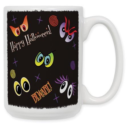 15 Ounce Ceramic Coffee Mug - Happy Halloween - Halloween Cups And Plates