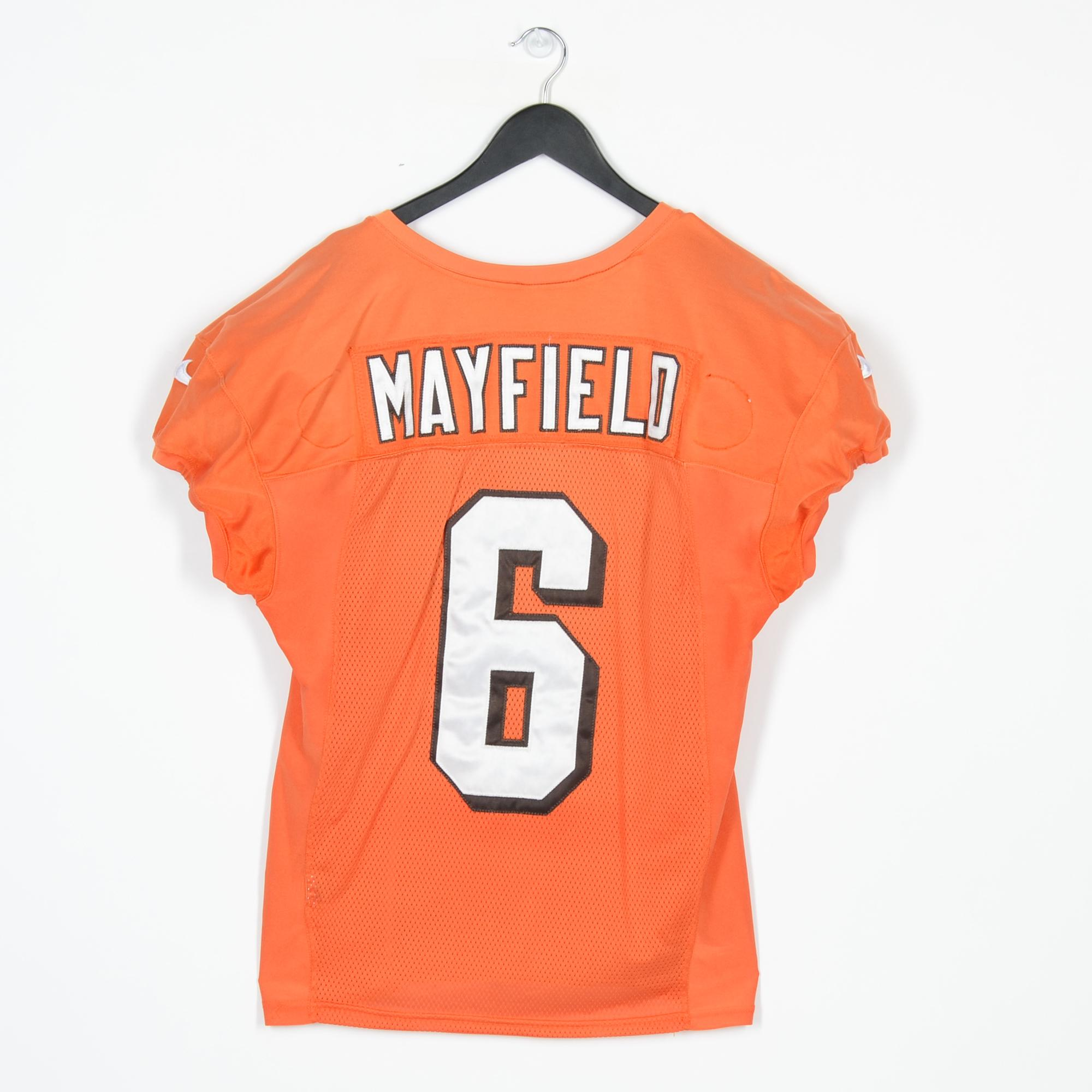 buy popular 873ab 0e421 Baker Mayfield Cleveland Browns Practice-Used Orange #6 ...