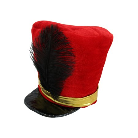Adult Nutcracker Toy Soldier Guard English Hat Costume Marching Band Major