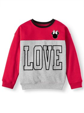Disney Minnie Mouse Love Colorblock Fleece Sweatshirt (Little Girls & Big Girls)