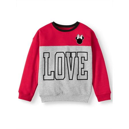 Minnie Mouse Love Colorblock Fleece Sweatshirt (Little Girls & Big Girls)