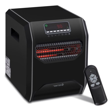 costway portable electric space heater 1500w 12h timer led. Black Bedroom Furniture Sets. Home Design Ideas