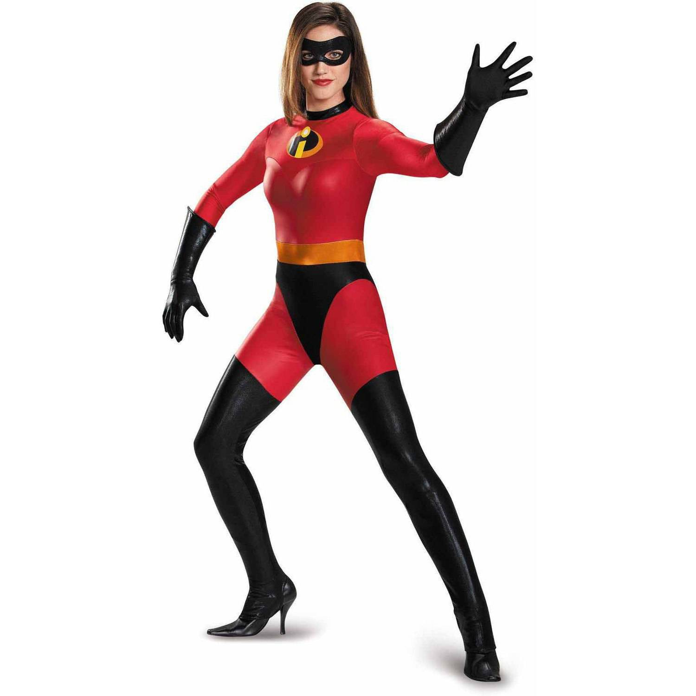 Disney The Incredibles Mrs. Incredible Bodysuit Women's Adult Halloween Costume