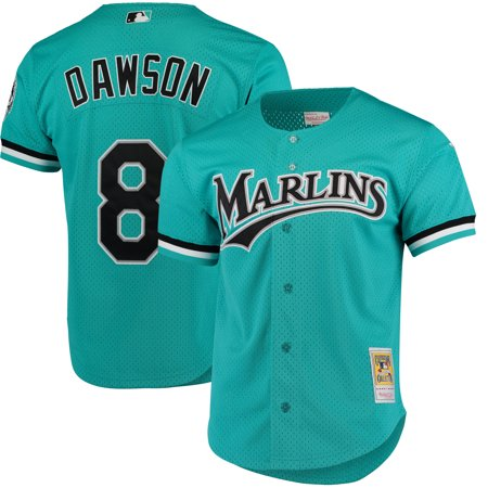 Andre Dawson Florida Marlins Mitchell & Ness Fashion Cooperstown Collection Mesh Batting Practice Jersey - - Womens Batting Practice Jersey