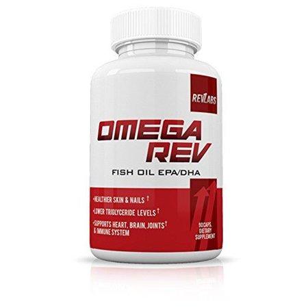 RevLabs- Omega Rev-Omega 3 Fish Oil Supplement EPA/DHA- Supports Heart, Brain, Joints & Immune System- Lower Triglyceride Levels- Healthier Skin &