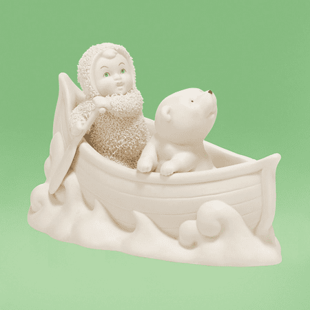 Department 56 Snowbabies 4038097 Two In A Canoe - Department 56 Halloween Retired