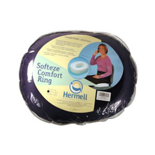 Hermell Softeze Foam Comfort Ring, 18 X 15 Inches, Navy - 1 Ea