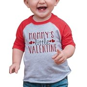 7 ate 9 Apparel Boy's Mommy's Little Valentine Baseball Tee 18 Months Red