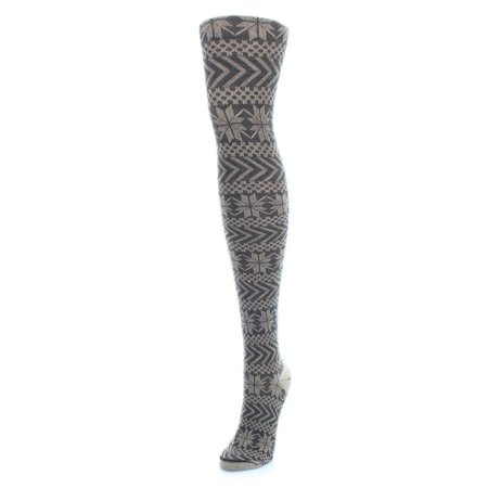 MeMoi Snowflake Sweater Tights Medium/Large / Black MF4 108